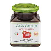 Casa Giulia Strawberry Fruit Spread Made with Agave, No Sugar Added