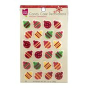 Cake Mate Candy Cake Decorations - Holiday Ornaments - 24 CT
