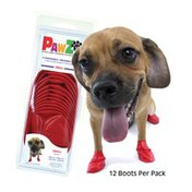 PawZ Disposable Reusable Red Dog Boots