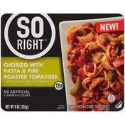 So Right Chorizo with Pasta & Fire Roasted Tomatoes Frozen Dinner