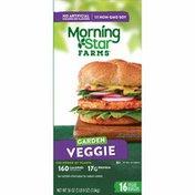 Morning Star Farms Veggie Burgers, Garden Veggie, Vegetarian, Good Source of Protein