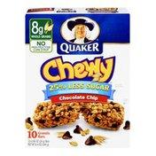 Quaker 25 % Less Sugar Chocolate Chip Granola Bars