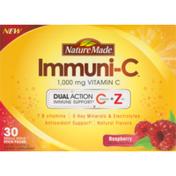 Nature Made Immuni-C 1,000 MG Vitamin C Single Serve Stick Packs Raspberry