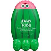 Raw Sugar Bubble Bath + Body Wash, Watermelon Lemonade
