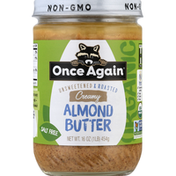 Once Again Almond Butter, Salt Free, Creamy