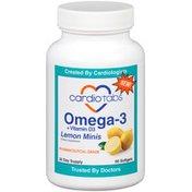 Cardiotabs OMega-3 + Vitamin D3 Lemon Minis Softgels Dietary Supplement