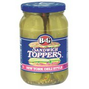 B&G Pickle Slices New York Deli Style Sandwich Toppers