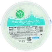 Food Club Mint Chocolatey Chip Chocolate Flavored Chips In Mint Ice Cream