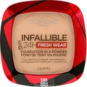 L'Oreal Foundation, Fresh Wear, Vanilla 120