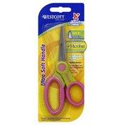 Westcott Scissors, Ultra Soft Handle, Pointed Tip