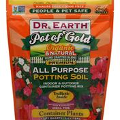 Dr. Earth Potting Soil, All Purpose, Pot of Gold, Premium