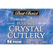 Best Choice Premium Assorted Full Size Crystal Plastic Cutlery