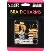 Firstline Braid Charms, Silver & Gold
