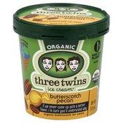 Three Twins Ice Cream, Organic, Butterscotch Pecan