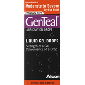 GenTeal Gel Drops, Lubricant, Moderate to Severe Dry Eye Relief, Liquid, Economy Size