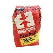 Equal Exchange Medium Roast Decaffeinated Organic Full City Roast Whole Bean Decaf Coffee