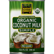 Native Forest Coconut Milk, Organic, Unsweetened