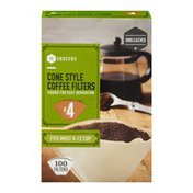Southeastern Grocers Coffee Filters Cone Style #4 - 100 CT