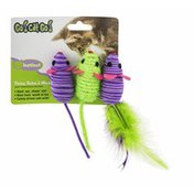 Go! Cat Go! Three Twine'd Mice Cat Toys - 3 CT