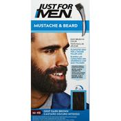 Just For Men Easy Brush-In Color, Mustache & Beard, Deep Dark Brown M-46