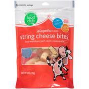 Food Club Jalapeno Flavored Low-Moisture Part-Skim Mozzarella String Cheese Bites
