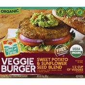 Don Lee Farms Veggie Burger, Organic, Sweet Potato & Sunflower Seed Blend
