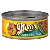 9 Lives Cat Food, Chicken & Tuna Dinner