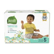 Seventh Generation Baby Diapers Size 5, 27+ Lbs