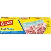 Glad Flex'n Seal Gallon Freezer Zipper Bags
