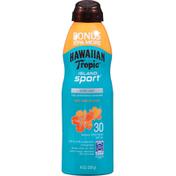 Hawaiian Tropic Sunscreen, Ultra Light, Light Tropical Scent, Broad Spectrum SPF 30