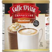 Caffe D'Vita Cappuccino, Instant, Premium, Hazelnut