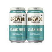 Brew Dr. Kombucha Kombucha, Organic, Clear Mind, 12oz 4pk cans