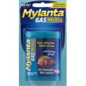 Mylanta Anti-Gas, Chewable Mini-Tablets, Assorted Fruit, Convenient Pocket Pack