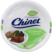 Chinet Dinner Plates, Classic White, 10-3/8 Inch