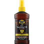 Banana Boat Tanning Oil, Deep, Spray Sunscreen, SPF 4