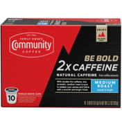 Community Coffee Caffeine Medium Roast Coffee Single Serve Cups
