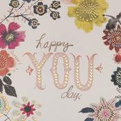 Hallmark Studio Ink Birthday Card (Happy You Day)
