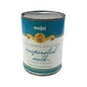 Meijer Evaporated Milk, Cholesterol & Fat Free