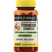 Mason Natural Turmeric Complex, with Vitamin D3 & Magnesium, Tablets