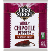 First Street Chipotle Peppers in Adobo Sauce, Whole