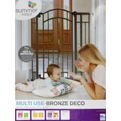 Summer Infant Walk-Thru Gate, Extra Tall, Multi Use-Bronze Deco