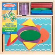 Melissa & Doug Beginner Pattern Blocks, Classic Toy, Ages 2+