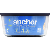 Anchor Baking Dish, Glass, 7 Cup, with Lid