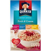 Quaker Fruit & Cream Flavors Instant Oatmeal Variety Pack