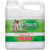 Paws Happy Life Clumping Cat Litter, Scented For Multi-Cats