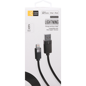 Case Logic Charge and Sync Cable, Lightning, Standard, 6 Feet
