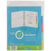 Simply Done 5 Tab Color Dividers