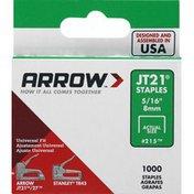 Arrow Staples, JT21, 5/16 Inch