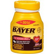 Bayer Aspirin Pain Reliever Fever Reducer, Coated Tablets