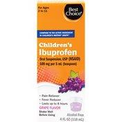 Best Choice Children's Grape Flavor Ibuprofen Suspension